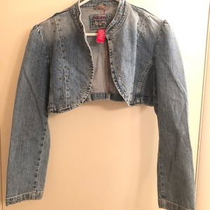 Star Jeans Studded Jean Jacket